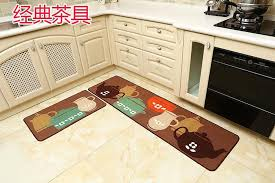 Thin Bath Mat 50x180cm Thin Polyester Kitchen Carpet Non Slip Hallway Doormat