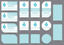 water name card templates download free vector art stock