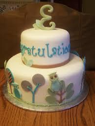 owl cakes for baby shower owl themed baby shower cake beth s