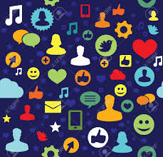 Facebook Icon by Seamless Social Pattern Vector Illustration Royalty Free