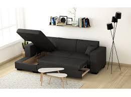 canapé convertible avec coffre canapé d angle fuji xl convertible avec coffre tissu gris