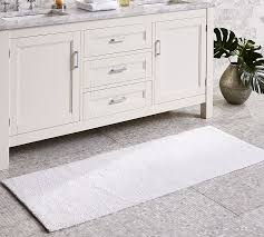 White Bathroom Rug Pb Classic Bath Rug Wide Pottery Barn