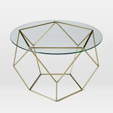 Coffee Table Glass by Origami Coffee Table Glass Antique Brass West Elm Au