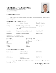 Example Of Resume With References by Glamorous Example Of Resume Personal Information 66 In Education
