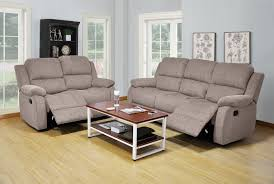 Reclining Sofas And Loveseats 3 Warm Gray Color Chenille Reclining Sofa Loveseat And