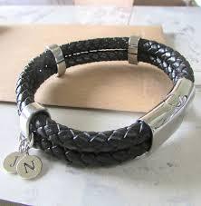 leather bracelet designs images Mens personalised double leather bracelet by evy designs jpg