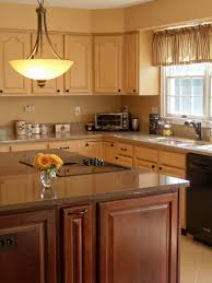 kitchen interior corner dark brown wooden kitchen cabinet with