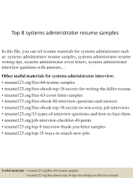 Senior System Administrator Resume Sample Top8systemsadministratorresumesamples 150426205951 Conversion Gate02 Thumbnail 4 Jpg Cb U003d1430100043