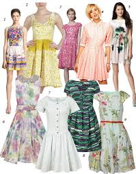 dress pattern fit and flare pretty printed and pleated get one of these celeb inspired easter