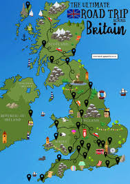 Map Of Wales And England by The Ultimate Road Trip Map Of 26 Places To See Across Great