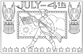 july 4th vintage postcard coloring page free printable coloring