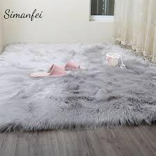 Washable Sheepskin Rug Simanfei Hairy Carpets 2017 New Sheepskin Plain Fur Skin Fluffy