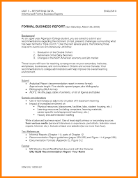 Accident Report Sample Letter 7 Business Report Format Resume Sections