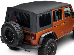 jeep wrangler unlimited softtop barricade wrangler replacement top w tinted windows black