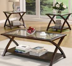 Oak And Glass Side Table Coffee Table Narrow End Table Small W Low Shelf Live Oak Tables