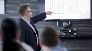 ufa russia 05 06 2016 ufa russia 01 04 2016 architect businessman presents the