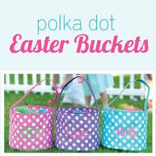 easter buckets polka dot easter buckets polka dot easter polka dot monogrammed