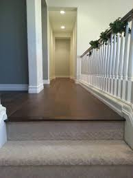 image result for carpeted stairs to hardwood transition house