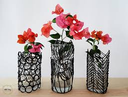 Flower Vase Crafts Turn A Boring Glass Into A Modern Vase Ohoh Blog