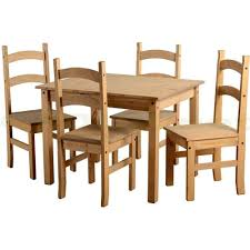Mexican Chairs Budget Mexican Wooden Dining Table With 4 Chairs Amazon Co Uk