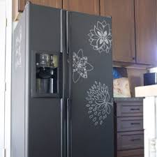 painting your fridge with chalkboard paint makes a nice matte gray instead of shiny black you can get chalkboard paint in any color so consider getting