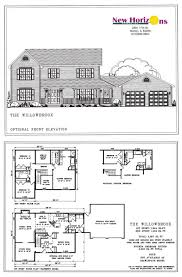 house plans simple elevation of ideas for the residential and model homes floor plans marion il new horizons inc residential house and elevations the willow residential