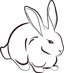 clipart rabbit line art