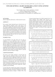 keyboard layout letter frequency toward optimal arabic keyboard layout pdf download available