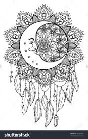 coloring pages of indian feathers fresh adult coloring pages moon dreamcatcher collection free