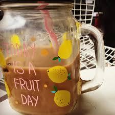 online shop homadise transparent glass cup fruit juice cool drink