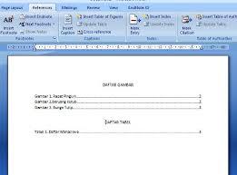 cara membuat daftar gambar word membuat daftar gambar tabel secara otomatis pada ms word 2007