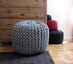 knitted ottoman pouf pattern diy project download woodworking knit