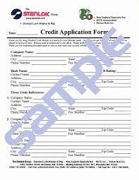 free printable credit application form form generic
