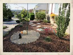 Pea Gravel Front Yard - lucky kara lareau