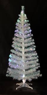 6ft iridescent fibre optic tinsel tree