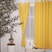 Short Curtains Mustard Yellow Geometric Funky Custom Short Curtains