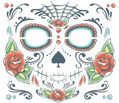 day of the dead costumes spirit halloween amazon com sugar skull makeup temporary tattoo day dead tattoo