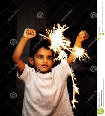 firecrackers for kids kid with crackers on diwali festival stock image