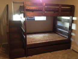 Bunk Beds  Twin Over Full L Shaped Bunk Bed With Stairs Full Over - Full over full bunk beds for adults