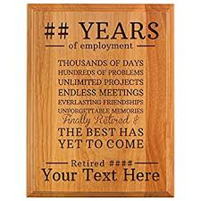 retirement plaques personalized retirement plaque custom name years the