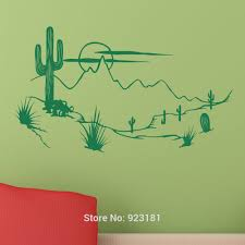 wall sticker picture more detailed picture about hot wild west hot wild west with cactus wall art stickers decal home diy decoration wall mural bedroom decor