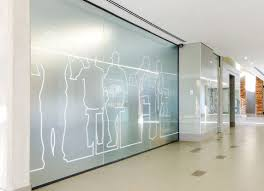 corridor environmental graphics pinterest glass interior