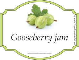 gooseberry jam labels for free free printable pdf