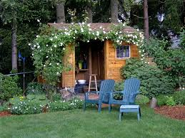 garden flooring ideas architecture inspiring red wooden wall shed house and brown roof