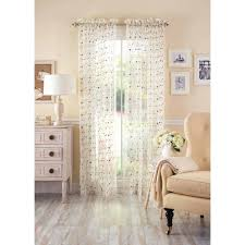 Better Homes Curtains Better Homes And Gardens Vintage Sheer Window Panel Walmart