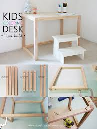 simple 1 hour kids coloring desk home made by carmona