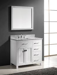 Bathroom Vanity With Drawers by Virtu Usa Ms 2136r Wmsq Wh 36 Inch Caroline Parkway Single Square