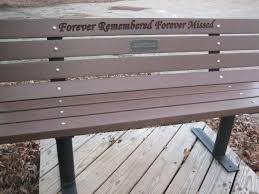 pet memorial park bench free standing frames 5 299 00