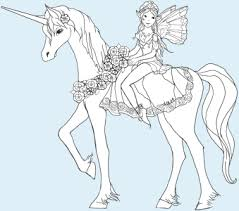 coloring pages of unicorns and fairies unicorn and rider puppet instructions free printable with unicorn