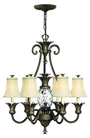 Tropical Chandelier Lighting Hinkley 4886pz Tropical British Colonial Seven Light Foyer From